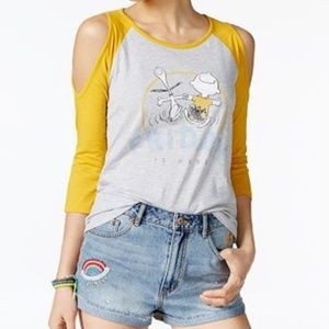 Tops - NWT Peanuts cold-shoulder graphic t-shirt
